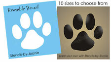 Paw Print STENCIL Dog Puppy Animal Pet Kennel Vet Sports Mascot Canine Art Sign