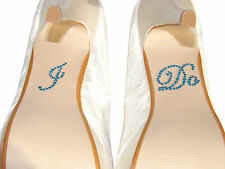 I DO Crystal Diamante Wedding Shoe Sticker Bridal Shoes Sticker Something Blue