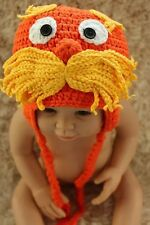 Cute Handmade The Lorax Baby Child Knit Crochet Hat Cap Photo Prop 0-4 Year New
