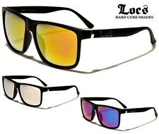 LOCS Flat Top Wayfarer Sunglasses - Coloured Mirror Lens - Ex Quality