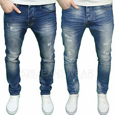 Eto Mens Designer Branded Distressed Rip Abraised Tapered Fit Jeans, BNWT