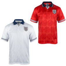 England Official Soccer Gift Mens 1990 World Cup Finals Home & Away Kit Shirt