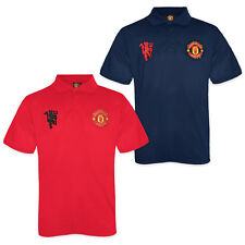 Manchester United FC Official Football Gift Boys Crest Polo Shirt