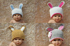 New Handmade Baby Child Rabbit Bugs Easter Bunny Knit Hat Cap Newborn Photo Prop