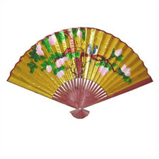 Oriental Furniture Decorative Golden Oriental Fan Wall Décor