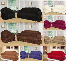LUXURY Large Jacquard Sofa Settee Covers All SIZES / COLOURS 1, 2, 3 Seater
