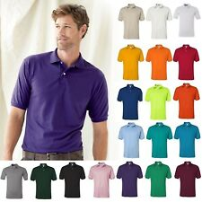 JERZEES Mens Spot Shield 50/50 Cotton/Polyester  437M Sport Polo Shirt S-4XL
