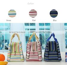 1x Cooler Thermal Picnic Lunch Bag Insulated Tinfoil Waterproof Carry Tote IDU