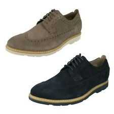 Men's Clarks Casual Lace Up Brogues Shoes Label - Gambeson Dress