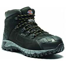 DICKIES MEDWAY LEATHER STEEL TOE CAP WATERPROOF WORK SAFETY ANKLE BOOT BLACK NEW