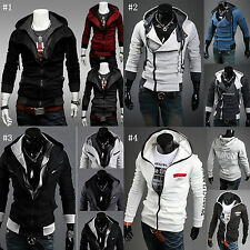 Casual Mens Zipper Jacket Slim Fit Coat Sweatshirt Hoodies Hooded Tops Cardigan