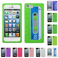 For Apple iPhone 5S/5 Retro Cassette Tape Silicone Skin Case Cover