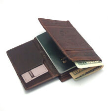 New Mens Wallet KOREA -154 Passport Leather Cover Holder Trifold Purse Zip Hot
