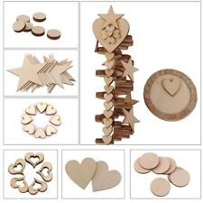Laser Cut Wooden MDF Heart/Star Shape Craft Blank Embellishment Scrapbooking DIY