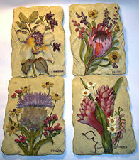3 D Look Floral Stone Themed Wall Hanging Plaque Home Decor