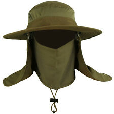 Unisex Wide Brim Hat Camping Fishing Outdoor Sport 360° Sun UV protection Cap