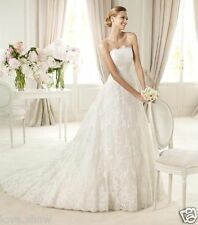 New White Ivory Lace Wedding Dress Bridal Gown Size:6 8 10 12 14 16 18 20 22+++