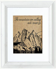 Fiber & Water 'The Mountains are Calling' Framed Graphic Art