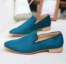 Stylish Mens Slip On Faux Suede Leather Loafers Shoes Dress Formal Work Shoes