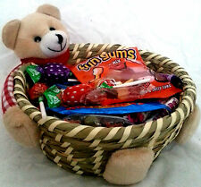 Deluxe RETRO Sweet Gift Wicker Basket Hamper,Thankyou,Birthday,Mother's day,test