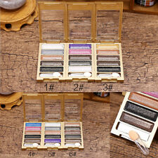 Women 6 Colors Professional Glitter Cosmetic Eyeshadow Palette Eye Shadow Kit