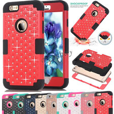 Bling Crystal Hybrid Hard Case Cover For iPhone 5S 5C 6 6S Plus iPod Touch 5 / 6