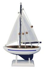 "Handcrafted Nautical Decor Pacific Sailer 9"" Wooden Model Sailboat"
