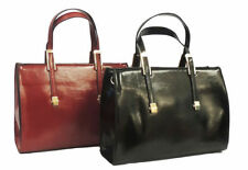 New Retro 1940's 1950's WW2 Wartime Black Red Classic Hand Bag Kelly Bag