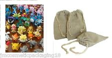 Small Drawstring Bags (Lego Mini Action Figures Collectables Pokemon Star Wars )