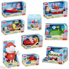 Peppa Pig Holiday Toys Playsets Figures Car Boat Plane Talking Peppa Plush New