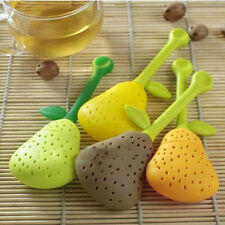 Silicone Pear Design Tea Leaf Strainer Herbal Spice Infuser Teapot Cup Filters