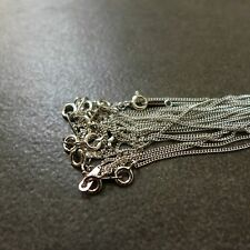 """10pcs,925 Sterling Silver,16"""",18"""",1.2mm Curb Chain Necklaces,Wholesale,Lead Free"""