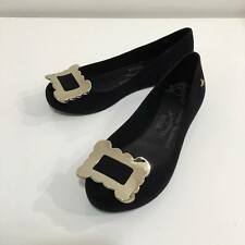 Vivienne Westwood Melissa Ultragirl Buckle Black Flock Shoes Brand New With Box