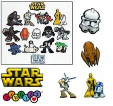 Star Wars Clone Wars Shoe Charms Jibbitz For Crocs Jellies Skywalker Solo Leia