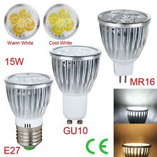 1/5/10PCS E27 GU10 MR16 Dimmable 15W LED Spot Lights Lamp Cool/Warm White New