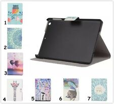 Printed Flip Fold Stand Leather Card Cover Smart Case For iPad Galaxy Tab Kindle
