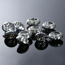 100Pcs Acrylic Clear Crystal Rhinestone Clothes Sewing Shank Round Buttons Craft