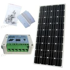 160W Mono Solar Panel w/15A Solar Controller, Bracket for Option 12V RV Charger