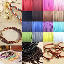 Suede Braided Leather String Cord Craft Bracelet Jewelry Necklace Supply DIY