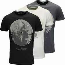 Crosshatch Mens Designer Branded Graphic Smoking Print T-Shirt, BNWT