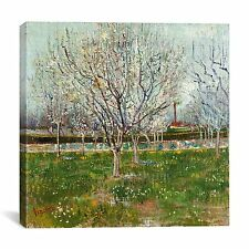 """Orchard in Blossom (Plum Trees)"" by Vincent van Gogh Painting Print on Canvas"