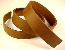 One 5-6oz BROWN OIL-TANNED LEATHER (Medium Weight) Strap Strip Hide