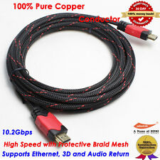 6FT 10FT 15FT [HDMI Cable Pack] Braided Super High Speed HDMI 1.4 Cable 1080P 3D