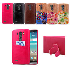 Flower Pattern For LG Optimus G3&G4 Protector Luxury Hard Leather+PC Case Cover