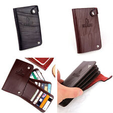 Mens Credit ID Card Holder Slim Coin Bifold Faux Leather Wallet Purse Bag CSD