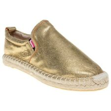 New Womens Superdry Gold Ashley Espadrille Synthetic Shoes Espadrilles Slip On