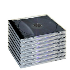 25 NEW STANDARD SINGLE BLACK TRAY JEWEL CASES CD DVD GRADE A HOLDS 1 DISC