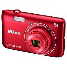 Nikon Coolpix S2900 20.0 MP Digital Camera 5x Optical Zoom - Silver or Red