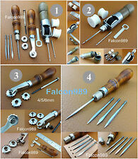 4 Kinds Leather Craft 4in1 Awl Automatic Lock Awl Over Stitching Wheel Tool Set