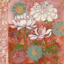 Marmont Hill Peoni and Dahlia Painting Print on Wrapped Canvas